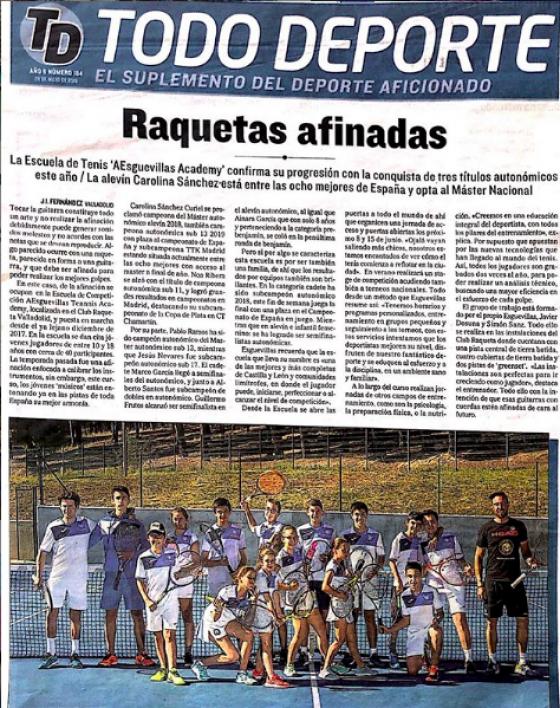 Raquetas afinadas en El Diario de Valladolid