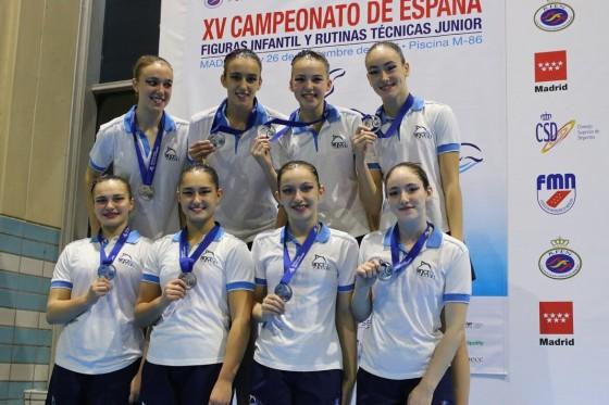 Medalla de plata en el Campeonato de España de figuras infantil